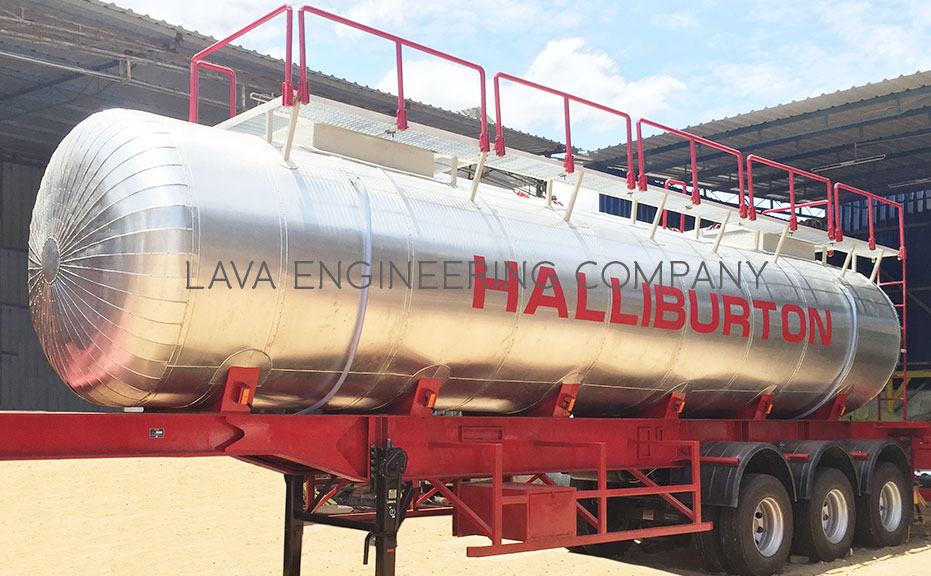Chemical and Acid transport Tank Trailer